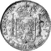 Portugal 870 Reis ND INCM KM# 440.13 Kingdom Countermarked coinage (870 Reis) coin reverse