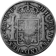 Portugal 870 Reis ND INCM KM# 440.11 Kingdom Countermarked coinage (870 Reis) coin reverse