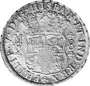 Portugal 870 Reis ND INCM KM# 440.8 Kingdom Countermarked coinage (870 Reis) coin reverse