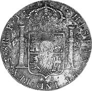 Portugal 870 Reis ND INCM KM# 440.3 Kingdom Countermarked coinage (870 Reis) coin reverse