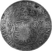 Portugal 870 Reis ND INCM KM# 440.42 Kingdom Countermarked coinage (870 Reis) coin reverse