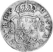 Portugal 870 Reis ND INCM KM# 440.40 Kingdom Countermarked coinage (870 Reis) coin reverse