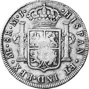 Portugal 870 Reis ND KM# 440.43 Kingdom Countermarked coinage (870 Reis) coin reverse