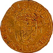 Portugal Cruzado Filipe I ND LB KM# 7 PHILIPPVS I D G REX PORTVGAL L - I coin obverse