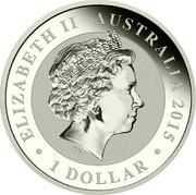 Australia Dollar Kookaburra. f15 Fabulous Privy mark 2015 P ELIZABETH II AUSTRALIA 1 DOLLAR coin obverse