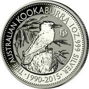 Australia Dollar Kookaburra. f15 Fabulous Privy mark 2015 P THE AUSTRALIAN KOOKABURRA 1OZ.999 SILVER coin reverse