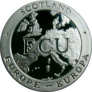 UK ECU King Jacob 1992 Proof X# 13 SCOTLAND EUROPE EUROPA ECU coin obverse