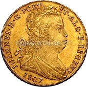 Portugal Escudo 1807 KM# 338 Kingdom Milled coinage coin obverse