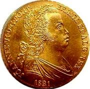 Portugal Escudo 1821 KM# 362 Kingdom Milled coinage JOANNES VI D G PORT BRASIL ET ALG REX 1821 coin obverse