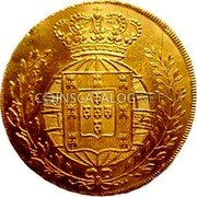 Portugal Escudo 1821 KM# 362 Kingdom Milled coinage coin reverse
