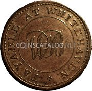 UK Farthing Token (Whitehaven - Wilson Bragg & Co) PAYABLE AT WHITEHAVEN WB coin obverse