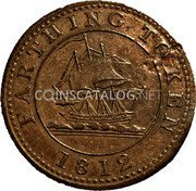 UK Farthing Token (Whitehaven - Wilson Bragg & Co) FARTHING TOKEN 1812 coin reverse