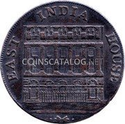 UK Halfpenny (East India House) EAST INDIA HOUSE coin obverse