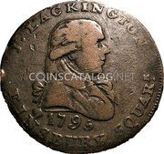 UK Halfpenny (Middlesex - Lackington's) J. LACKINGTON 1795 FINSBURY SQUARE. coin obverse