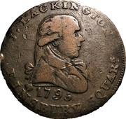 UK Halfpenny (Middlesex - Lackington's) J. LACKINGTON 1795 FINSBURY SQUARE. coin obverse