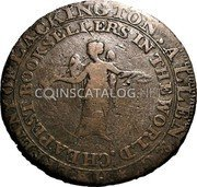 UK Halfpenny (Middlesex - Lackington's) HALFPENNY OF LACKINGTON. ALLEN & CO * CHEAPEST BOOKSELLERS IN THE WORLD. coin reverse