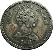 UK One Peny Token (Somerset - Bristol / City) ONE PENNY TOKEN 1811 coin obverse