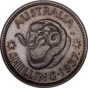 Australia Shilling Edward VIII (Pattern) 1937 Pattern AUSTRALIA KG SHILLING 1937 coin reverse