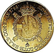 Belgium Souverain (Joseph II) KM# 33 ARCH AUST DUX BURG LOTH BRAB COM FLAN 1786 coin reverse