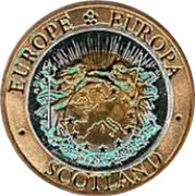 UK Twenty FiVe ECU Neptune and Europa 1992 X# 11 EUROPE EUROPA SCOTLAND coin obverse