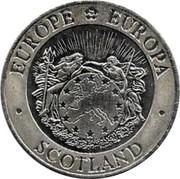 UK Twenty Five ECU Neptune and Europa 1992 X# 15 EUROPE EUROPA SCOTLAND coin obverse