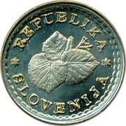 Slovenia 0,005 Lipe Three Lime Leafs 1991 X# Tn6 REPUBLIKA SLOVENIJA coin obverse