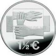 Portugal 1 1/2 Euro 2008 Proof KM# 828b Euro coinage coin obverse