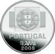 Portugal 1 1/2 Euro 2008 Proof KM# 828b Euro coinage coin reverse