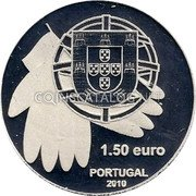 Portugal 1 1/2 Euro 2010 Proof KM# 795a Euro coinage coin obverse