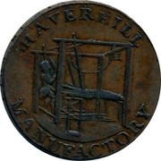 UK 1/2 Penny Haverhill Manufactory ND HAVERHILL MANUFACTORY coin reverse