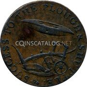 UK 1/2 Penny (Haverhill Manufactory) TO THE PLOUGH SHUTTLE SUCCESS coin obverse