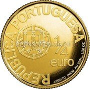 Portugal 1/4 Euro 2006 KM# 777 Euro coinage coin obverse