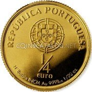 Portugal 1/4 Euro 2007 KM# 826 Euro coinage coin obverse