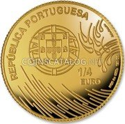 Portugal 1/4 Euro 2009 KM# 787 Euro coinage coin obverse