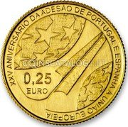 Portugal 1/4 Euro 2011 KM# 807 Euro coinage coin obverse