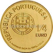 Portugal 1/4 Euro 2011 KM# 805 Euro coinage coin obverse