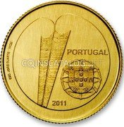 Portugal 1/4 Euro 2011 KM# 807 Euro coinage coin reverse