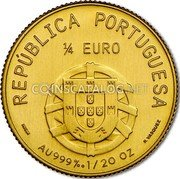 Portugal 1/4 Euro 2012 KM# 814 Euro coinage coin obverse