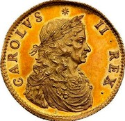 UK 1 Broad Charles II Pattern 1660 Pattern KM# Pn30 CAROLVS II REX S coin obverse