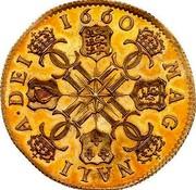 UK 1 Broad Charles II Pattern 1660 Pattern KM# Pn30 1660 MAG MALI A DEI coin reverse