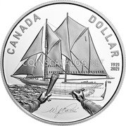 Canada 1 Dollar (100th Anniversary of Bluenose) CANADA DOLLAR 1921 2021 coin reverse