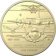 Australia 1 Dollar (Heroes of the Sky) C 1921 2021 AS ROYAL AUSTRALIAN AIR FORCE coin reverse