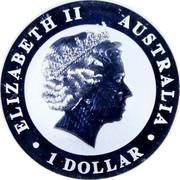 Australia 1 Dollar The Australian Kookaburra 2010 P Proof KM# 1471a 1 DOLLAR AUSTRALIA ELIZABETH II coin obverse