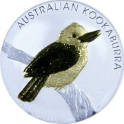 Australia 1 Dollar The Australian Kookaburra 2010 P Proof KM# 1471a 1 OZ 999 SILVER 2010 AUSTRALIAN KOOKABURRA coin reverse
