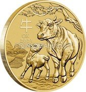 Australia 1 Dollar (Year of the Ox) OX 2021 coin reverse