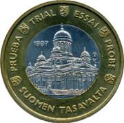 Finland 1 Euro Trial 1997 ESSAI PROBE SUOMEN TARAVALTA PRUEBA TRIAL 1997 coin obverse