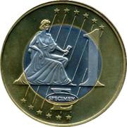 Finland 1 Euro Trial 1997 1 E SPECIMEN coin reverse