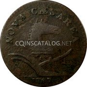 USA 1 Penny (New Jersey Colonial Copper) NOVA CAESAREA 1787 coin obverse