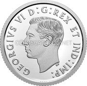 Canada 10 Cents (100th Anniversary of Bluenose) GEORGIVS VI D G REX ET IND IMP H coin obverse