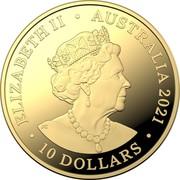 Australia 10 Dollars Heroes of the Sky 2021C Proof in Capsule ELIZABETH II AUSTRALIA 2021 10 DOLLARS JC coin obverse